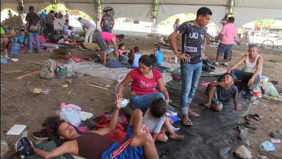 Migrantes en Mapastepec. Foto de El Universal