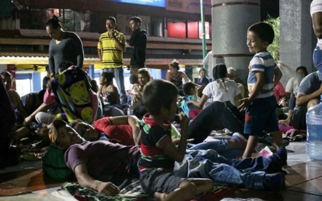 Migrantes viajarán en autobuses de Tapachula a la Ciudad de México - Foto de Notimex