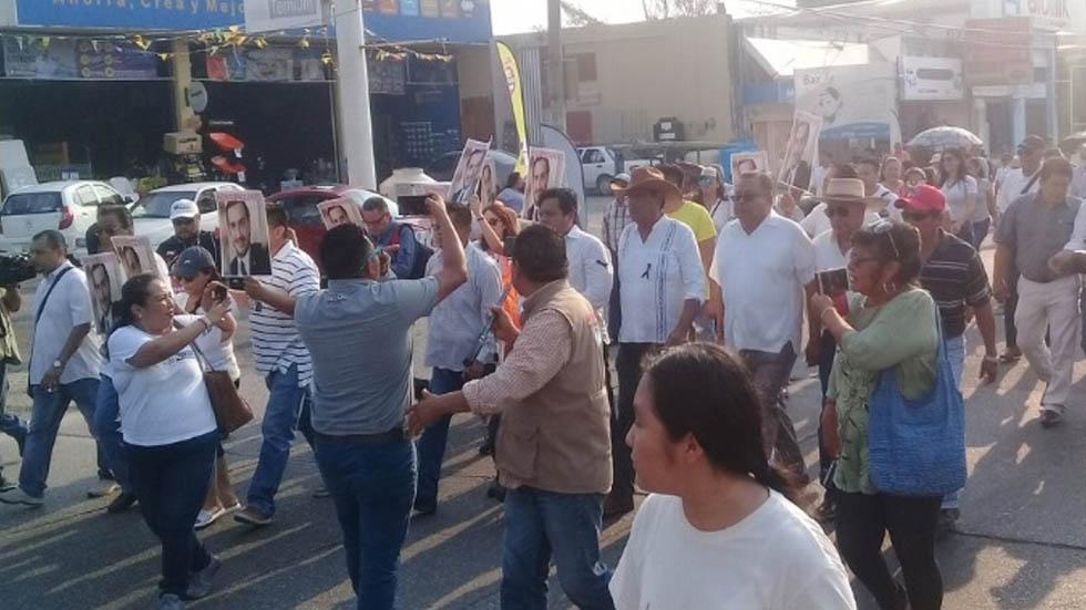 Marchan en Minatitlán para exigir mayor seguridad. Noticias en tiempo real