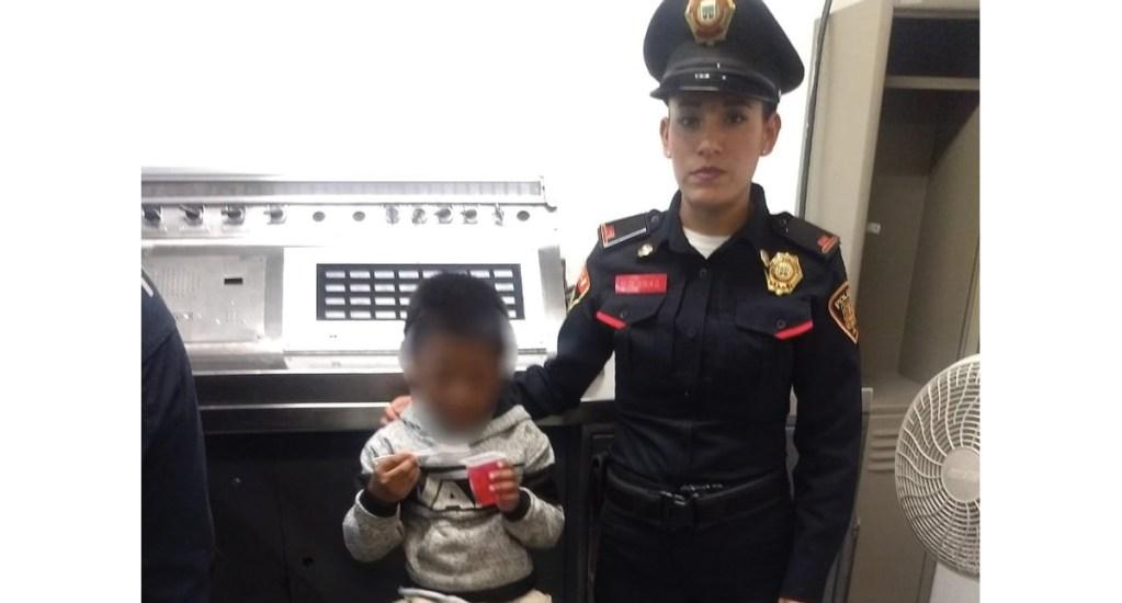 Encuentran en el Metro a niño desaparecido en La Merced - niño recuperado