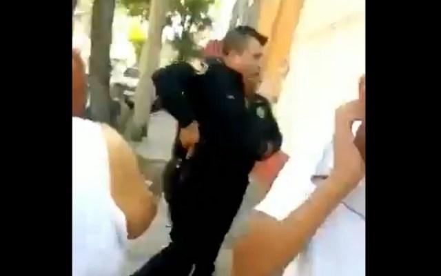 #Video Policía dispara al aire en la colonia Peralvillo - Captura de pantalla