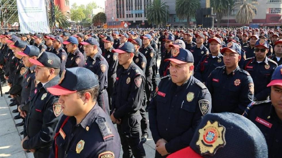 Casi 11 mil policías resguardarán la CDMX durante Semana Santa - Policías de la Ciudad de México. Foto de @PoliciaCDMX