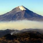 Simulacro de evacuación por el Popocatépetl - El Volcán Popocatépetl. Foto de Notimex-Arturo Monroy.