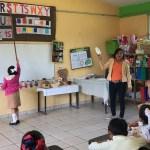 Primero y segundo de primaria se acreditarán con solo ir a clases: SEP - Primaria en el poblado Tapotzingo de Tabasco. Foto de Notimex