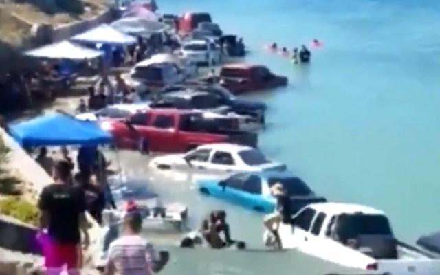 #Video Marea en playa de Puerto Peñasco sorprende a vacacionistas - Captura de pantalla