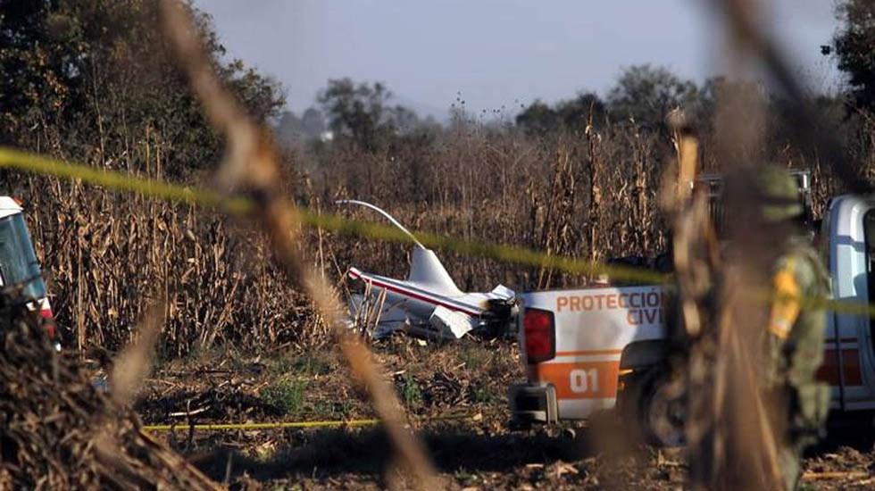 SCT desmiente dictamen sobre desplome de helicóptero de Martha Erika - Restos del helicóptero. Foto de El Sol de Puebla
