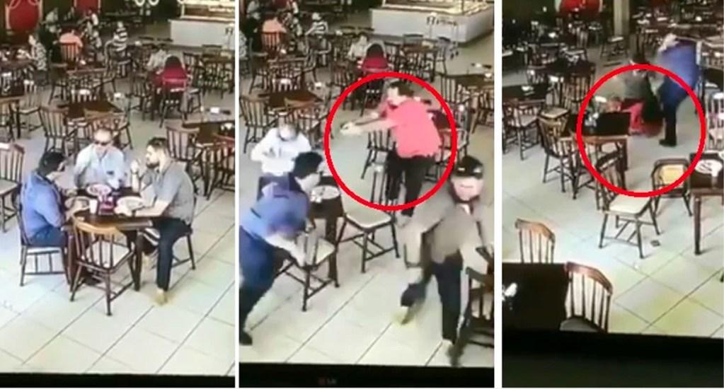 #Video Sicario falla al disparar a su víctima y recibe golpiza - Captura de pantalla