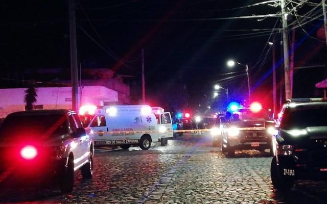 Asesinan a oficial en ataque a policías de Zapopan - Sitio donde fueron baleados los policías de Zapopan en la colonia Miramar. Foto de @Mizaga_25