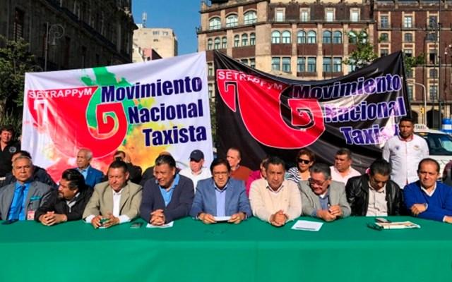 Taxistas anuncian paro y cierre de calles en la Ciudad de México - taxistas