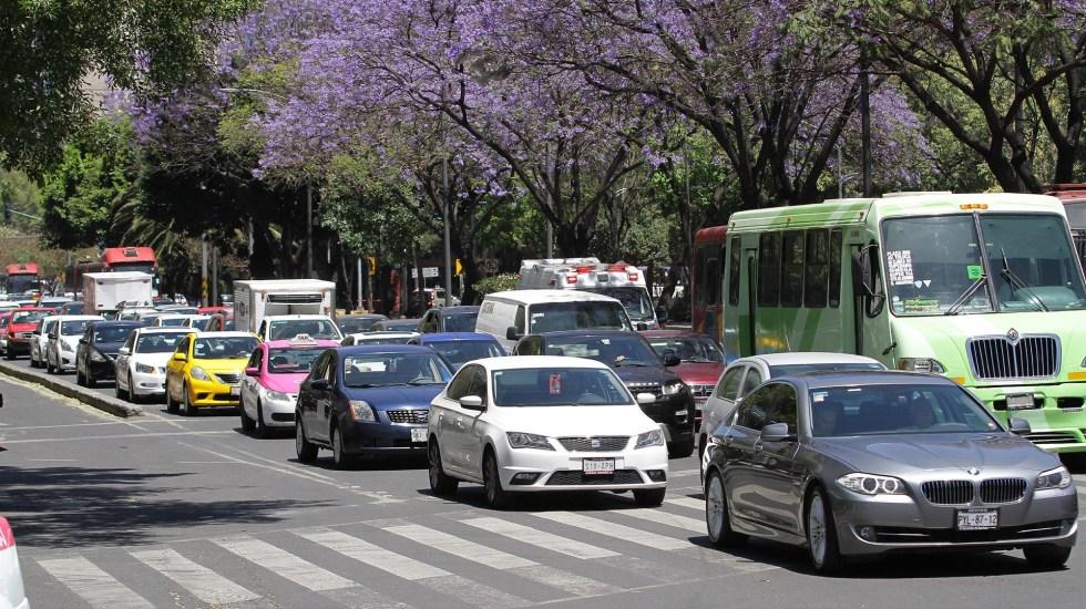 Dónde se ubican las cámaras y radares para las fotocívicas - Tránsito vehicular en la CDMX. Foto de Notimex
