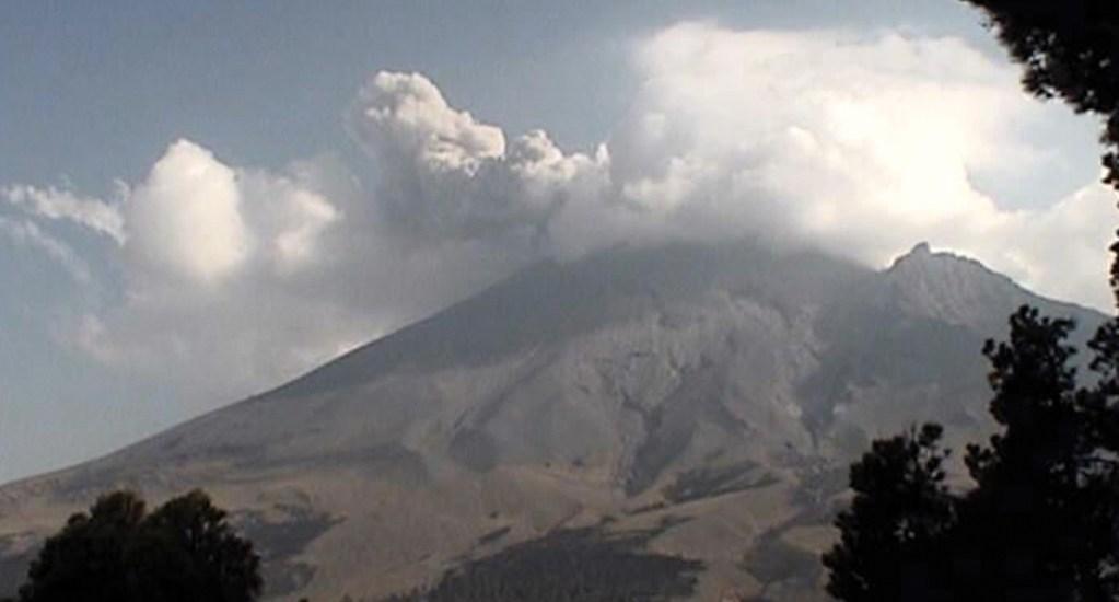 Continúa actividad del volcán Popocatépetl. Noticias en tiempo real