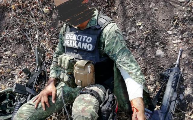 Dos militares heridos tras enfrentamiento con hombres armados en Michoacán - Foto: especial.