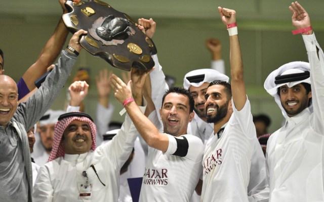 Xavi Hernández campeón en la liga catarí - Foto de @AlsaddSC