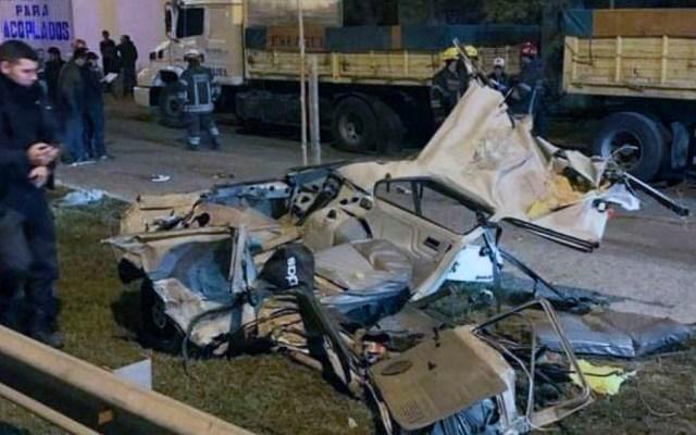 Suspenden a 12 policías en Argentina por muerte de cuatro jóvenes - accidente argentina