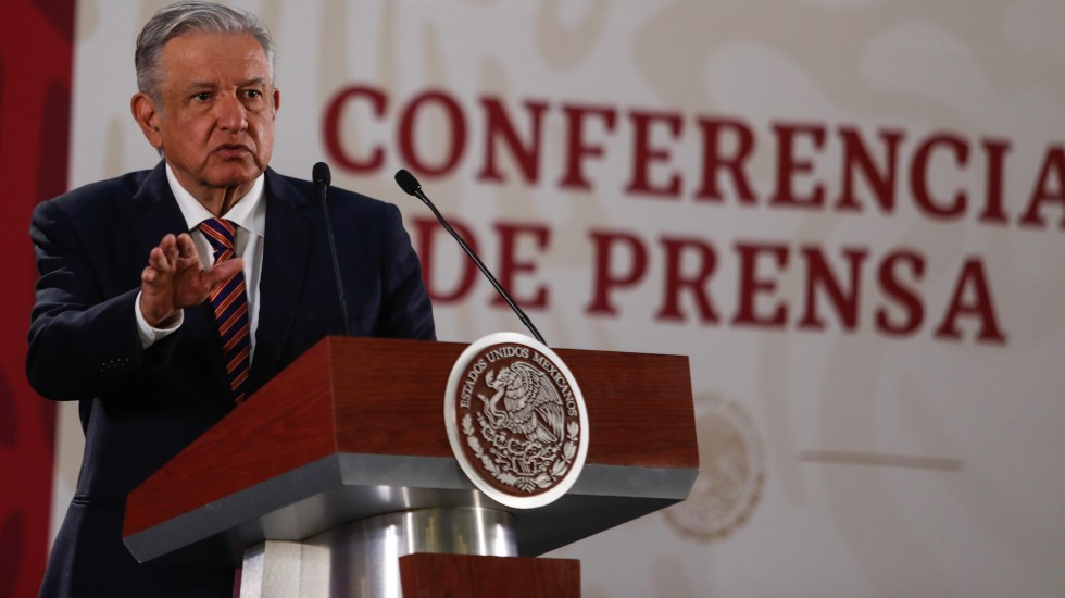 Conferencia de AMLO (08-05-2019) - Andrés Manuel López Obrador. Foto de Notimex- Jessica Espinosa