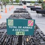 Destruyen mil 687 armas de fuego decomisadas en Tamaulipas - armas de fuego