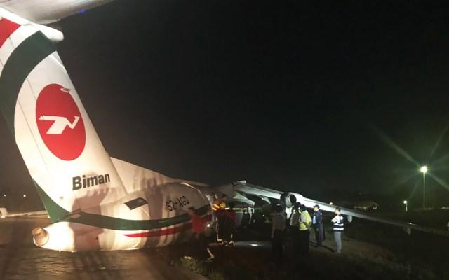 Avión se sale de pista en Bangladesh - avión se despista en bangladesh