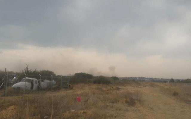 Cae avión pequeño en Atizapán; hay un muerto - avión pequeño cae en atizapán