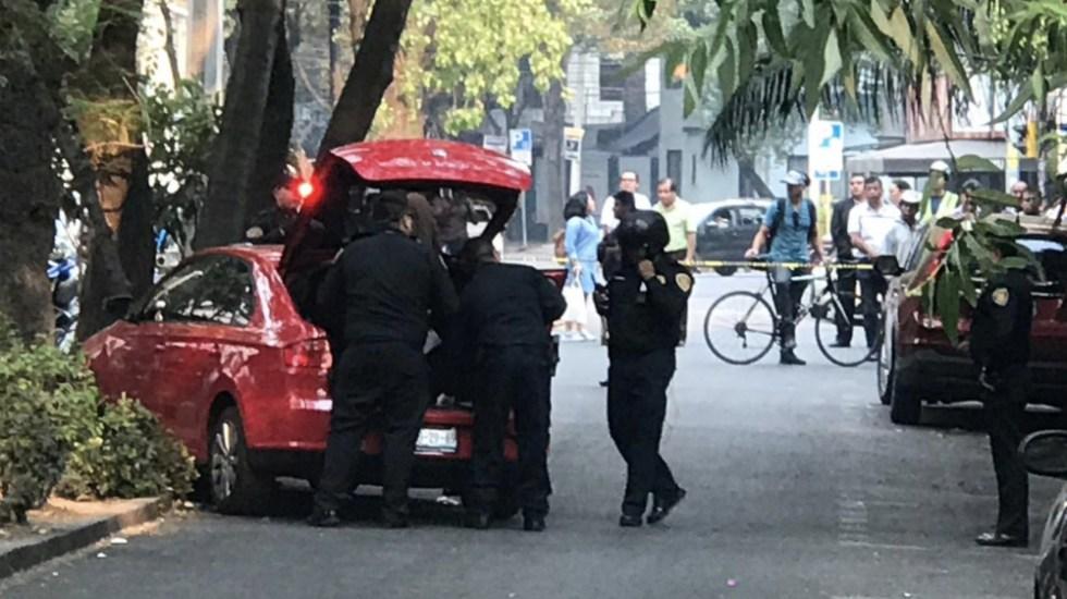 Balacera en la Condesa deja dos muertos - Foto de @CarlosTejedaA
