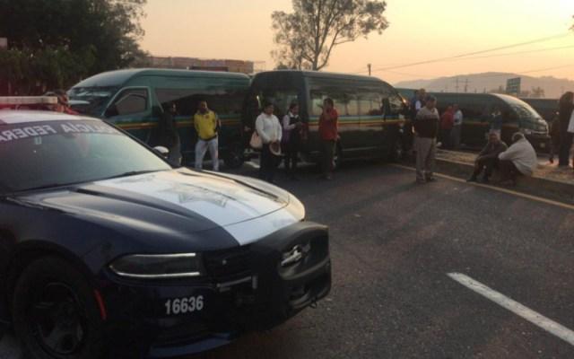 Bloquean carretera México-Cuautla en Morelos - bloqueo carretera méxico-cuautla
