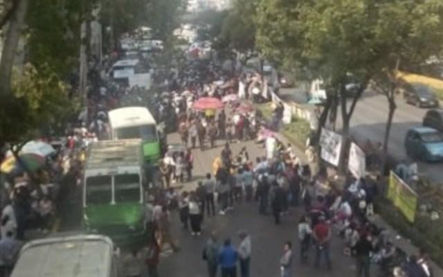 Bloqueo de cuatro horas del SME provoca caos en Circuito Interior - Foto de @OVIALCDMX