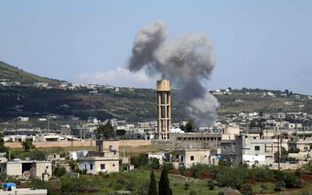 Nueve civiles muertos en bombardeos del régimen sirio y Rusia en el noreste - Foto de AFP