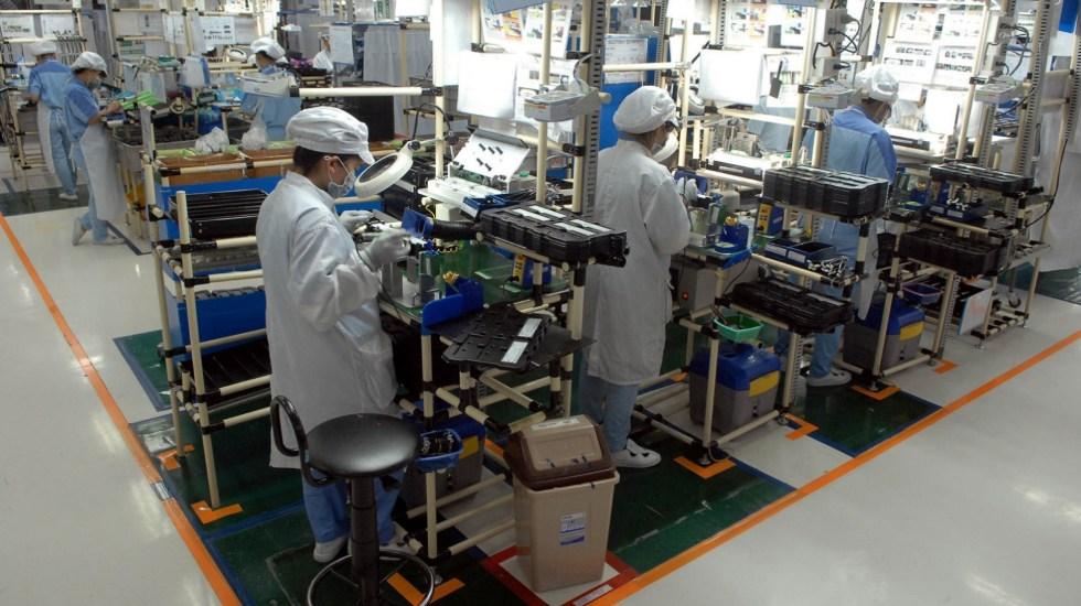 Actividad Industrial baja 0.4 por ciento a nivel anual en abril - producción industrial abril