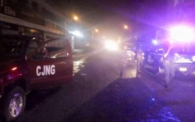 Abaten a cinco presuntos criminales tras ataque a policías de Zamora - Escena tras ataque a policías. Foto Especial / El Universal