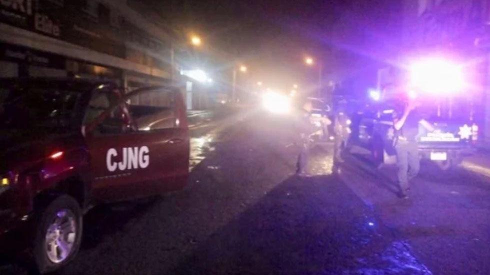 Escena tras ataque a policías. Foto Especial / El Universal