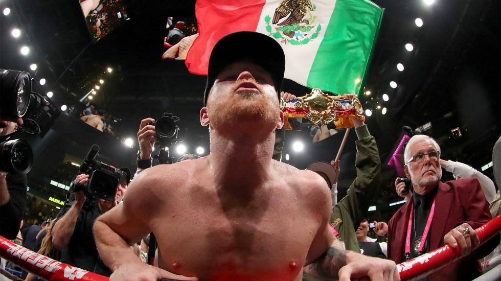 Andrade o Golovkin, futuro de Canelo Álvarez - Canelo Álvarez tras ganar por decisión unánime a Daniel Jacobs el 04 de Mayo de 2019 in Las Vegas, Nevada. Foto de Al Bello/Getty Images/AFP.