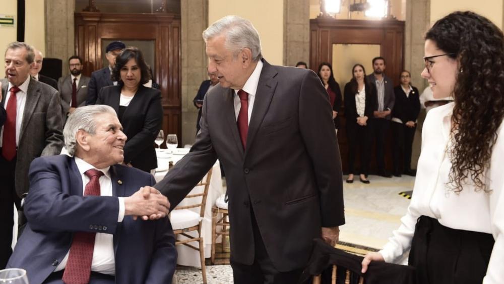 López Obrador se reúne con líderes sindicales - líderes sindicales Lopez Obrador AMLO