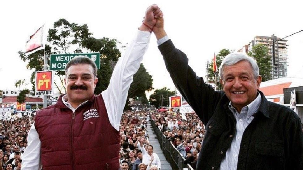 AMLO delega a la Función Pública caso de Carlos Lomelí Bolaños - Carlos Lomelí con López Obrador. Foto de @DrCarlosLomeli
