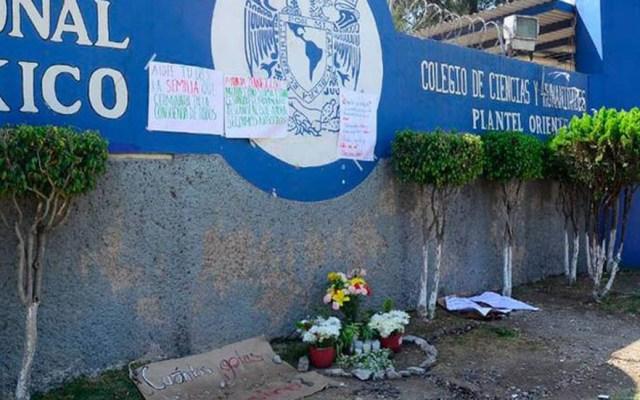 Calibre 9 mm mató a alumna de CCH Oriente - pgj investigación caso Aideé Mendoza afuera del CCH Oriente. Foto de El Sol de México
