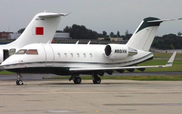 Reportan hallazgo del avión Challenger 601 en Monclova - Avión tipo Challenger 601. Foto de Update México