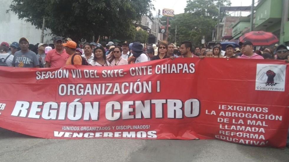 CNTE amenaza con plantón indefinido a nivel nacional - Foto de @Sie7edeChiapas
