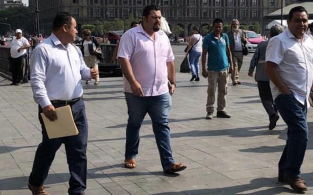 CNTE y López Obrador se reúnen en Palacio Nacional - Foto de @Notimex