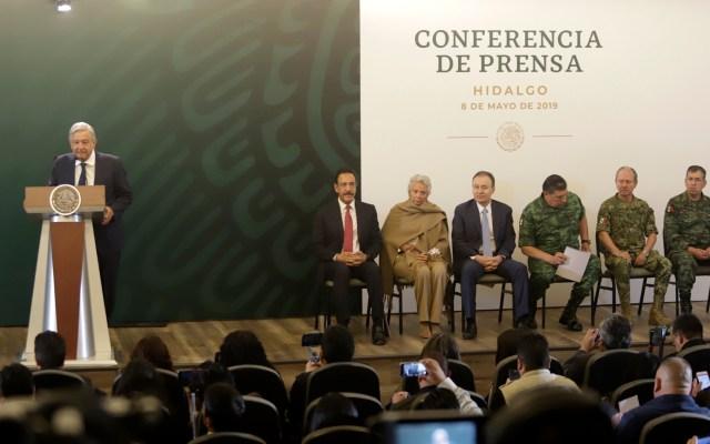 Gobierno Federal no olvidará tragedia de Tlahuelilpan - Conferencia de AMLO desde Hidalgo. Foto de Notimex