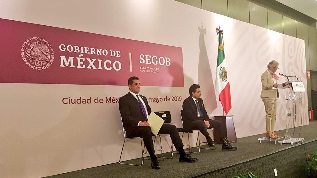 Conferencia de presentación de Rafael Peralta como nuevo subsecretario de Gobernación. Foto de @GobiernoMX