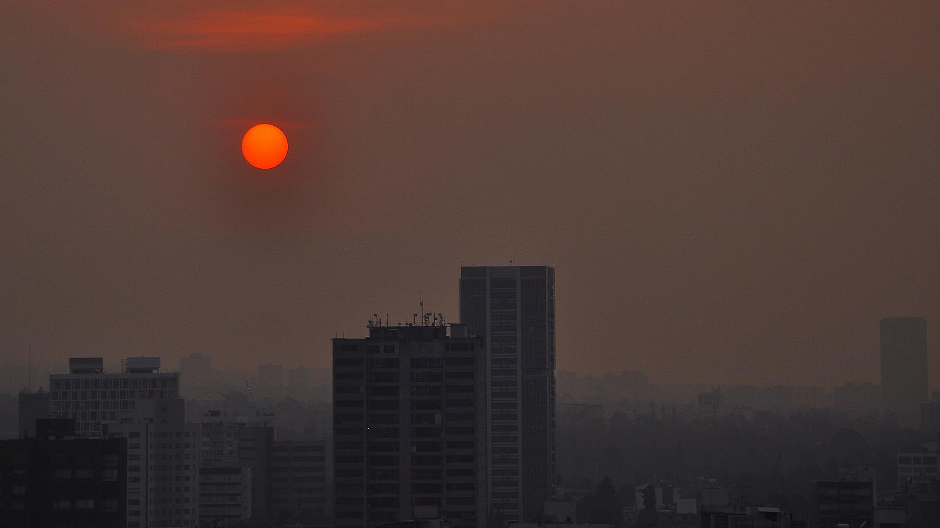 Contaminación del aire. Foto de Notimex