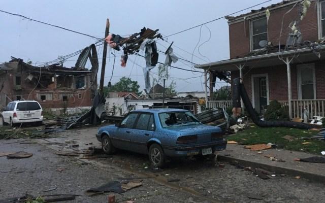 #Video La destrucción que causó un tornado en Missouri - Daños por tornado en Missouri. Foto de @KRCG13