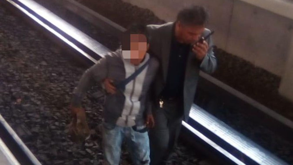 Detienen a delincuente que cayó a vías del Metro Bosque de Aragón - detenido metro bosque de aragón