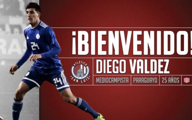 Atlético San Luis anuncia contratación del paraguayo Diego Valdez - Foto de @AtletideSanLuis