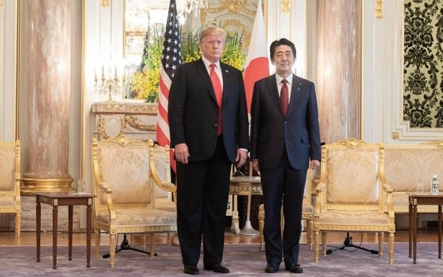 Trump regresa a Estados Unidos tras exitosa visita a Japón - Donald Trump Shinzo Abe Japón Estados Unidos