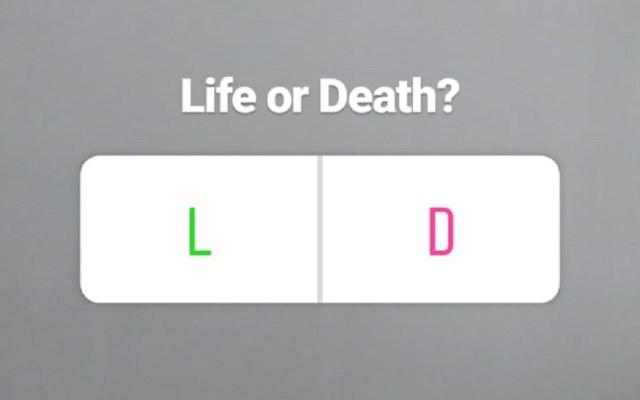 Adolescente se suicida tras resultados de encuesta en Instagram - Encuesta en Instagram sobre si morir o vivir. Foto de LDD