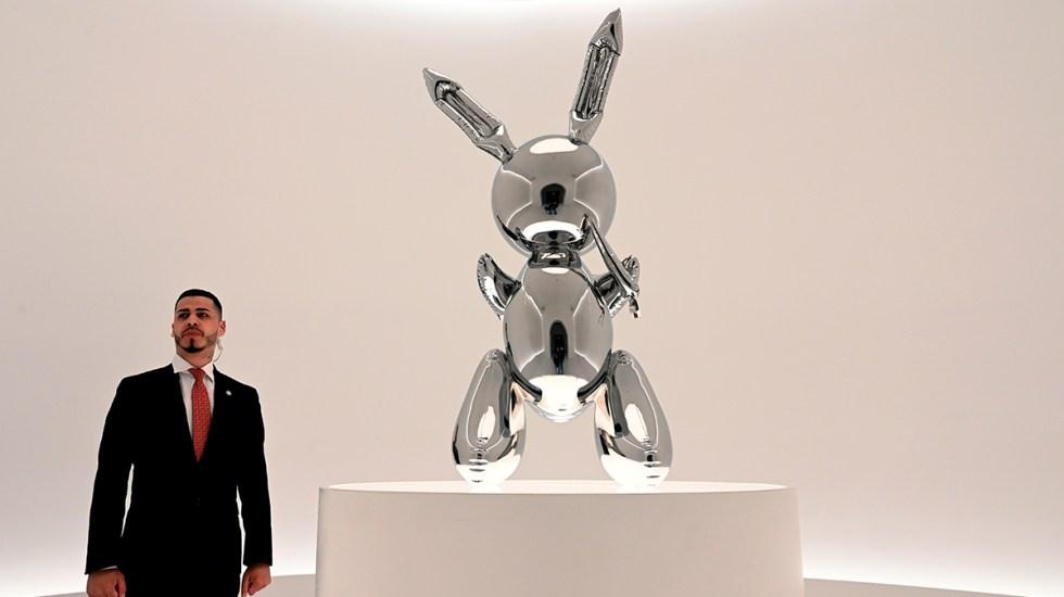 Escultura de Jeff Koons alcanza el precio más alto para un artista vivo - escultura jeff koon rabbit