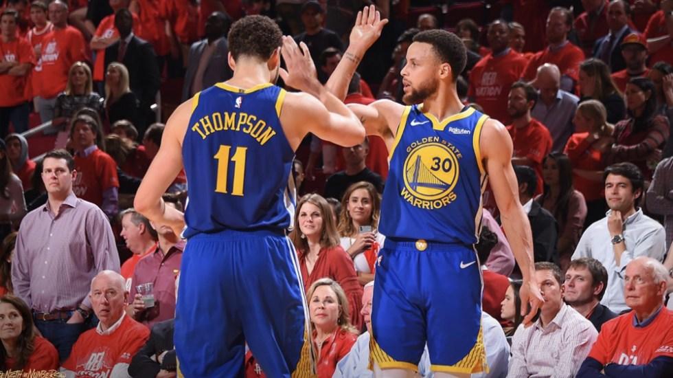 Warriors avanzan a la final del Oeste de la mano de Curry y Thompson - Foto de @warriors