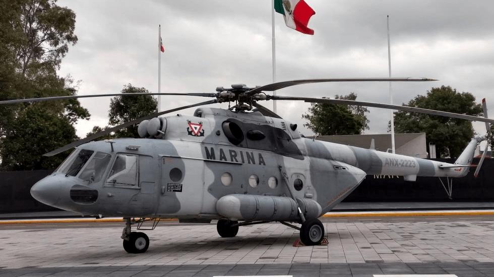 Cae helicóptero de la Marina en Querétaro con cinco elementos - Helicóptero MI-17. Foto de @SEMAR_mx