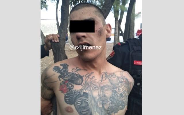 Detienen a hombre que realizaba disparos al aire en la GAM - Hombre detenido parque GAM CDMX