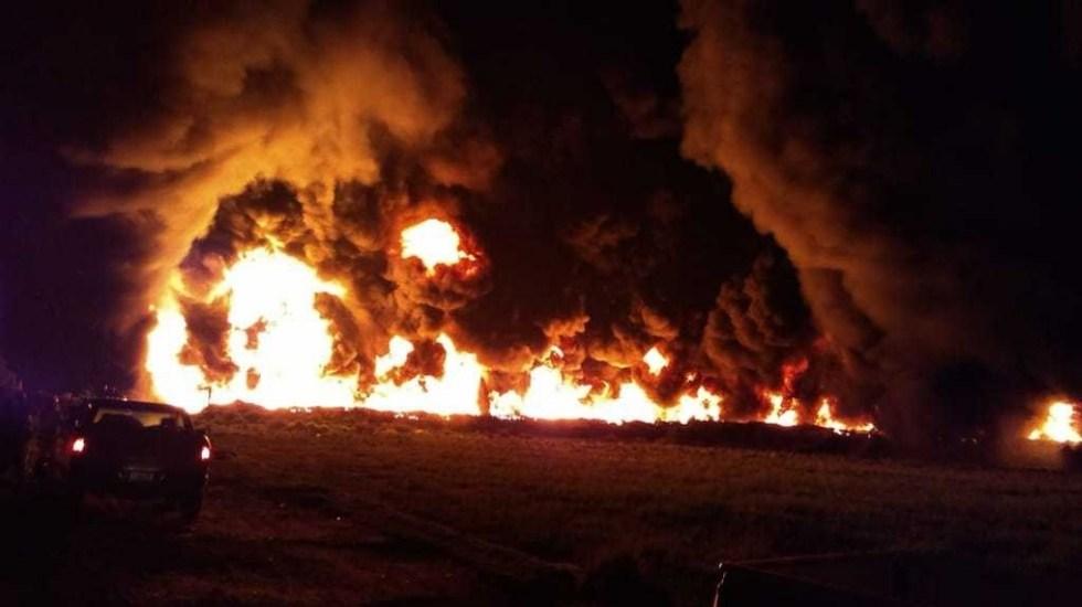 Se incendia ducto de Pemex en Hidalgo - Incendio Pemex Hidalgo ducto