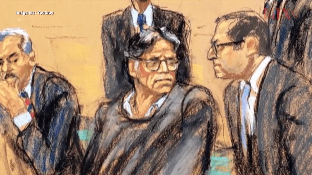 Condenan a 120 años de cárcel a Keith Raniere, líder de NXIVM - En la foto, el juicio de Keith Raniere. Foto de YouTube